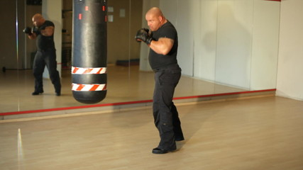 Bodygard beim Boxtraining