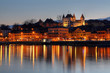 Nyon at sunset, Switzerland