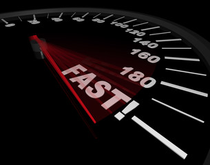 Fast - Word on Speedometer