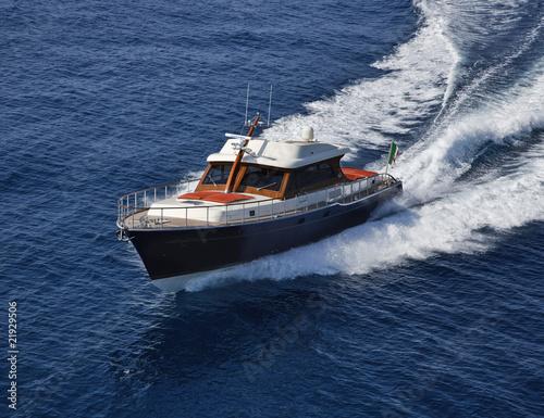 Italy, Lazio, Tirrenian sea, Morgan 70' Lobster luxury yacht