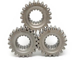 industrial cogwheels teamwork