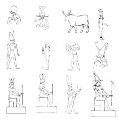 égypte, symbole, illustration