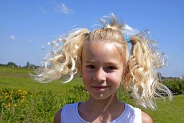 portait of a Dutch blonde girl