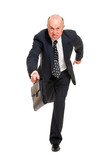 businessman hurrying to job poster