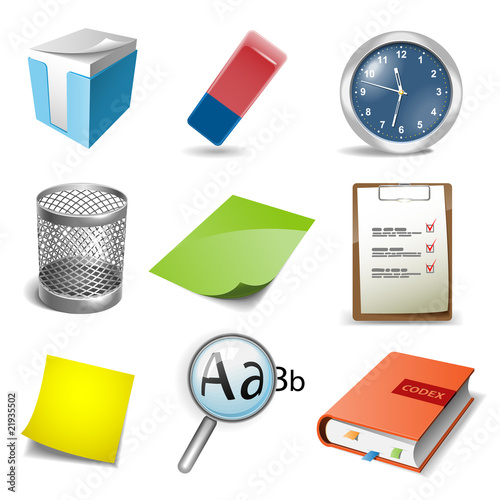 Office icons set. Vector illustration