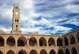 Khan Al-Umdan Ottoman tower building in old port of Acre, Israel poster
