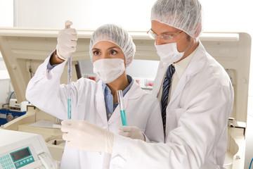 At a laboratory