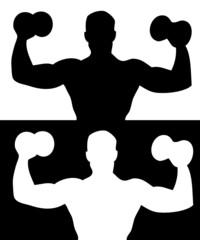 Zwei Bodybuilder