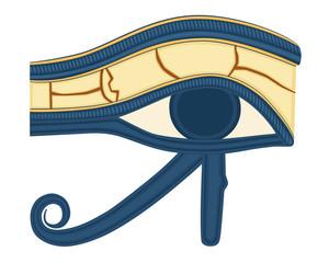 The Eye of Horus (Eye of Ra, Wadjet)  - vector EPS AI8