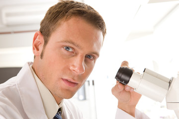 Scientist at work
