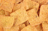 A close view of ranch flavored pita chips poster