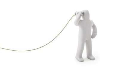 Figur Dosentelefon (mit Freistellungspfad/clipping path)