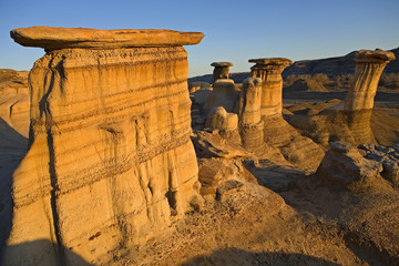 hoodoos in the badlands area