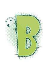 letra B alfabeto ecology