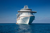 Cruise Ship Anchored in Caribbean Sea poster
