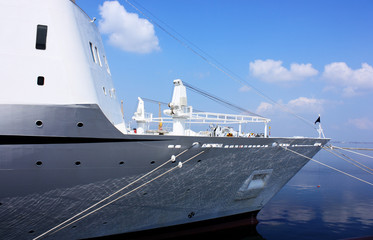 vessel anchored in port