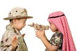Boys Playing War, Terrorist and Soldier