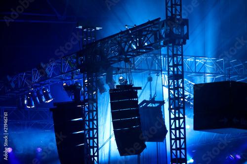 Foto op Aluminium Licht, schaduw Licht und Ton Veranstaltungstechnik