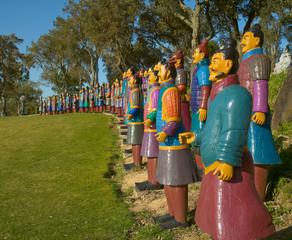 Terracota Warriors in Garden