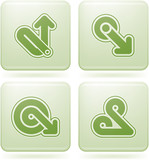Olivine Square 2D Icons Set: Abstract & Directions poster