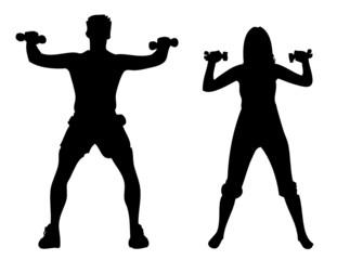 Mann und Frau beim Training