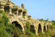 Ancient roman aqueduct in Side, Turkey