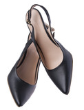 Women's Sling Back Black Pumps