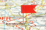 Bayreuth, Germany - flagged on a map