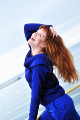 laughing redheaded girl