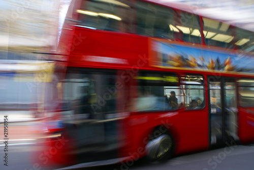 Fotobehang Londen rode bus London Bus 1