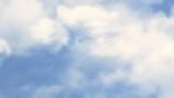 Flight through clouds background