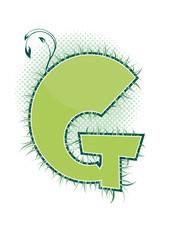 letra G alfabeto ecology
