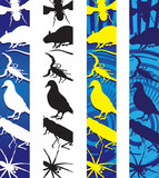 insects and rodents banners poster