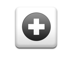 Boton cuadrado blanco primeros auxilios