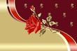 floral illustration with rose