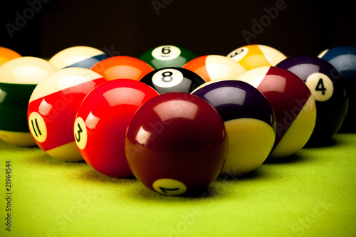 Billard theme closeup