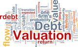 Debt valuation background concept poster