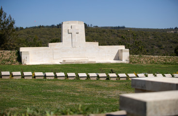 Baby 700 military cemetery in Gallipoli, Turkey