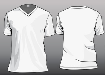 Shirt template with front and back