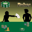Two people playing poker