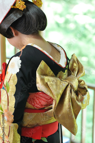 Japanese bride on wedding day