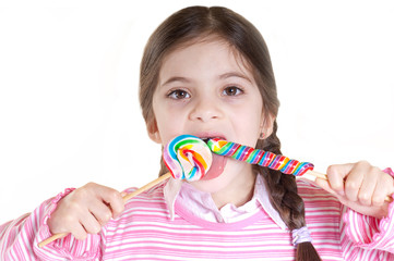 child with lollipop