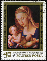 Virgin Mary Stamp