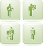 Olivine Square 2D Icons Set: Occupation poster
