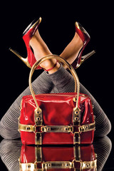 Red shoes and bag