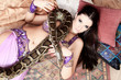 python and woman
