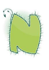 letra N alfabeto ecology