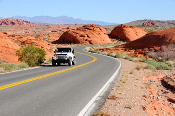 Driving Through Valley of Fire State Park