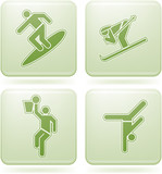 Olivine Square 2D Icons Set: Sport