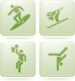 Olivine Square 2D Icons Set: Sport poster